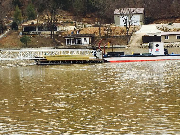 Servicing the Lake of the Ozarks  after the 2015 December flood.