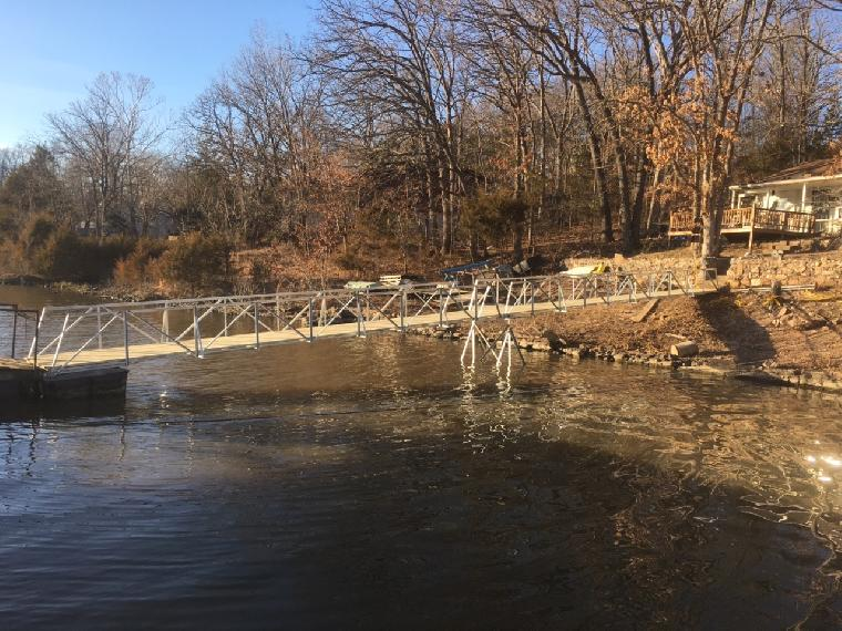 Ramp installation on the Osage 33 mile marker.