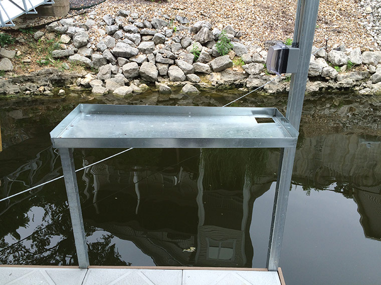 Dock accessories lake of the ozarks rich s dock company for Dock fish cleaning station